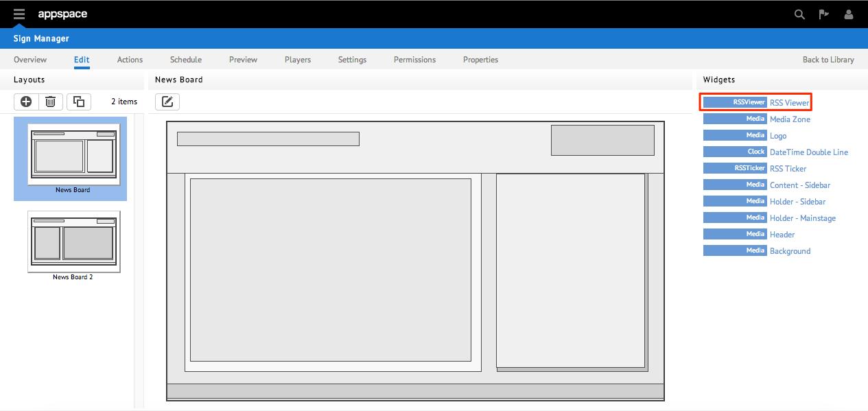 Widget: RSS Viewer — Appspace Core 5 3 documentation