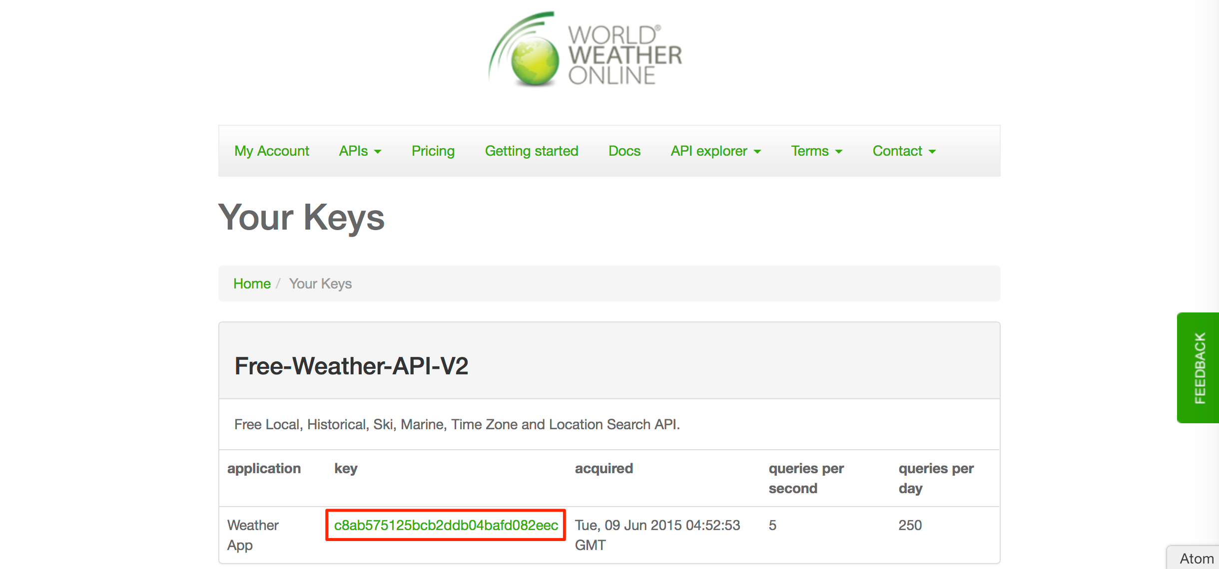 Copy The Api Key Displayed For Next Section Where You Will Add This To Your On Premise E Server Settings