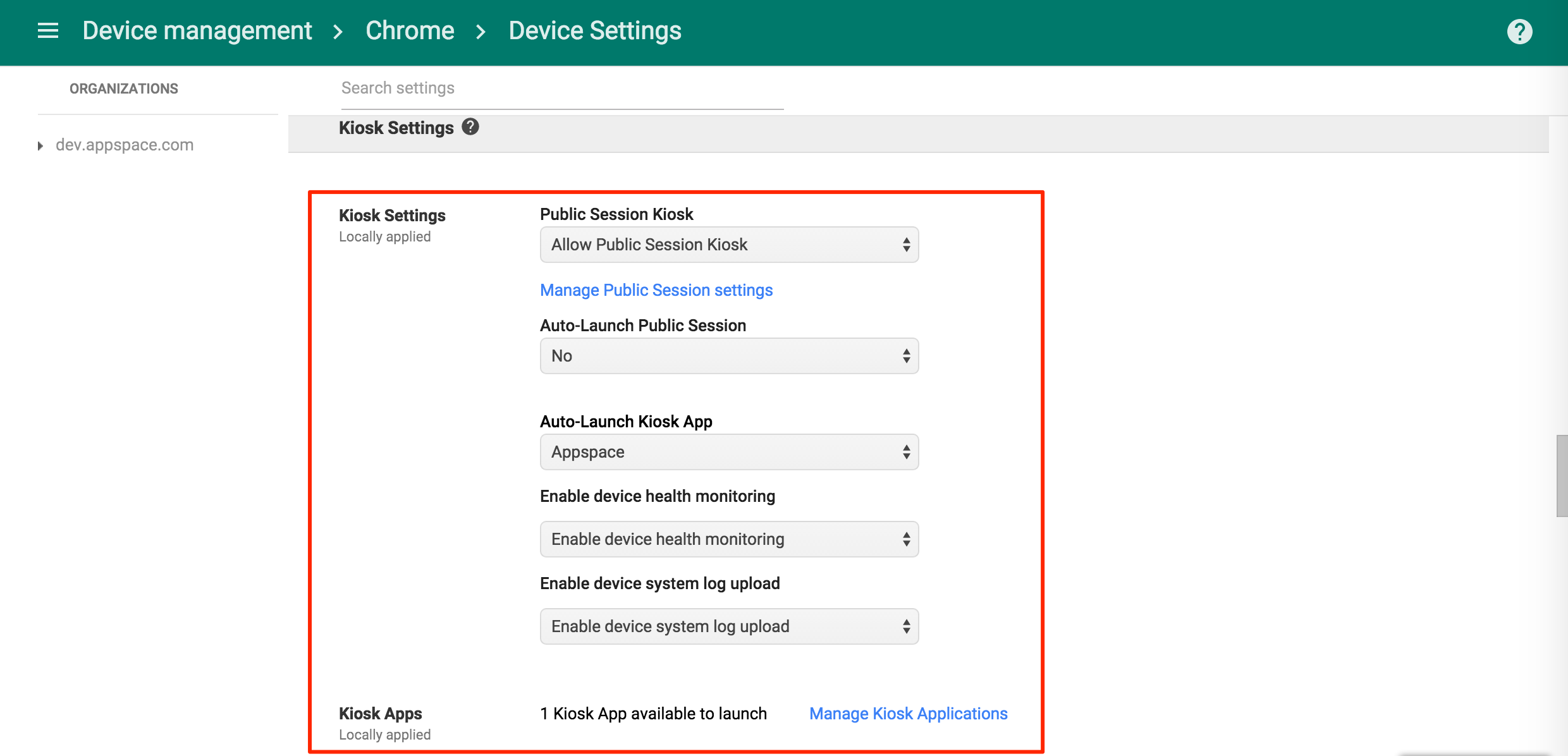Configuring Chromebox with Google Chrome Device Management