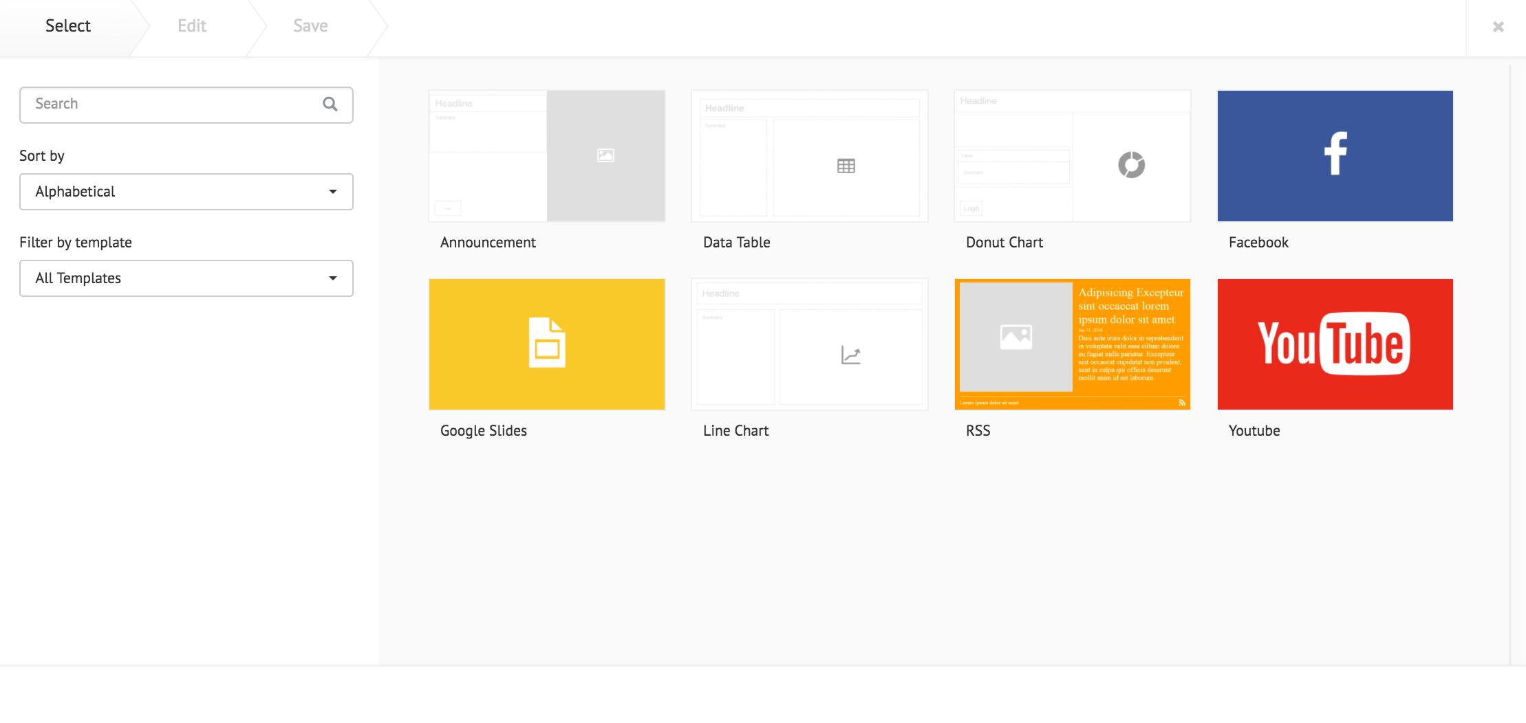 Adding a card — Appspace v6 1 Documentation