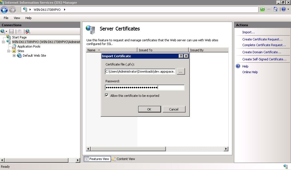 Ssl Configuration Appspace V61 Documentation