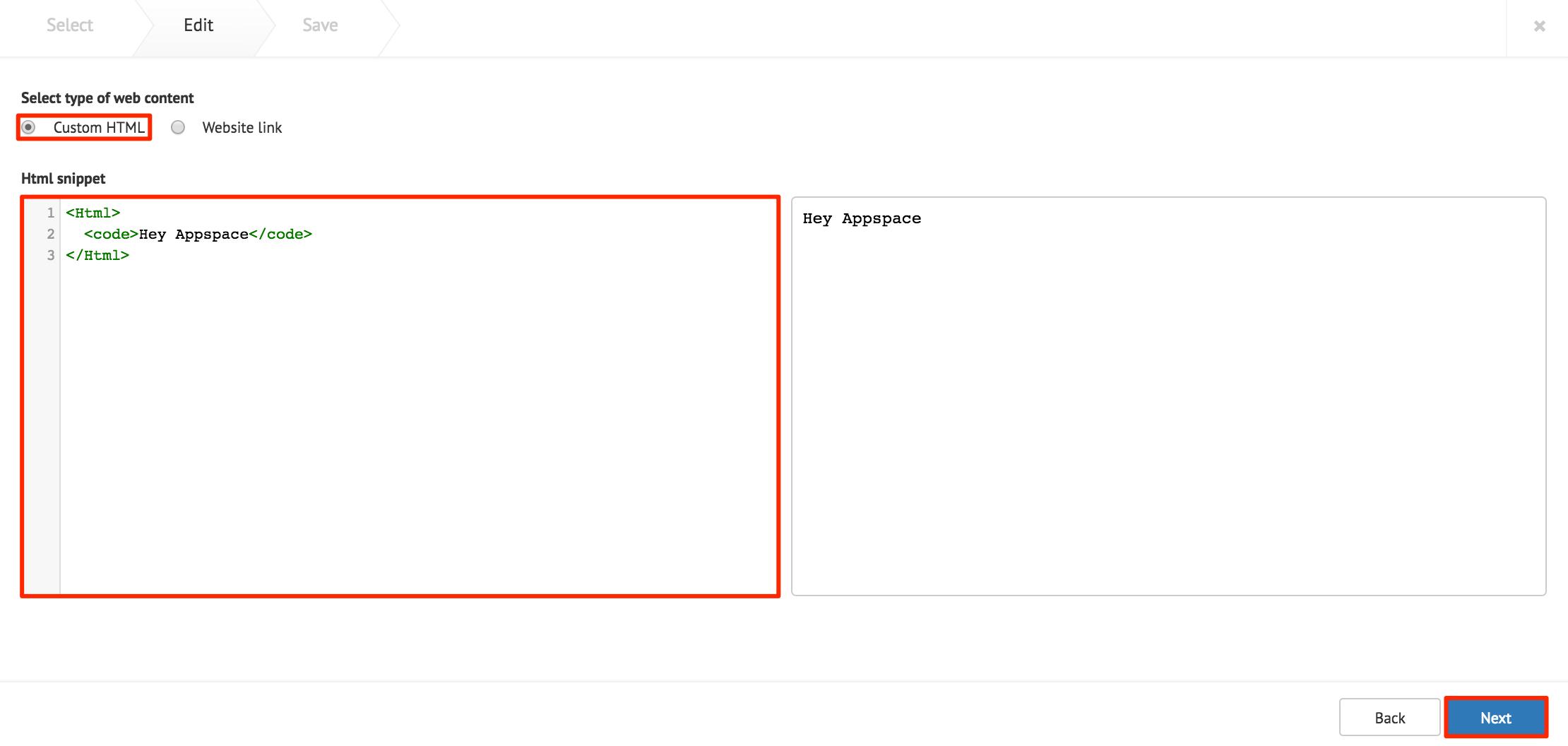 Adding web or external content — Appspace v6 1 Documentation