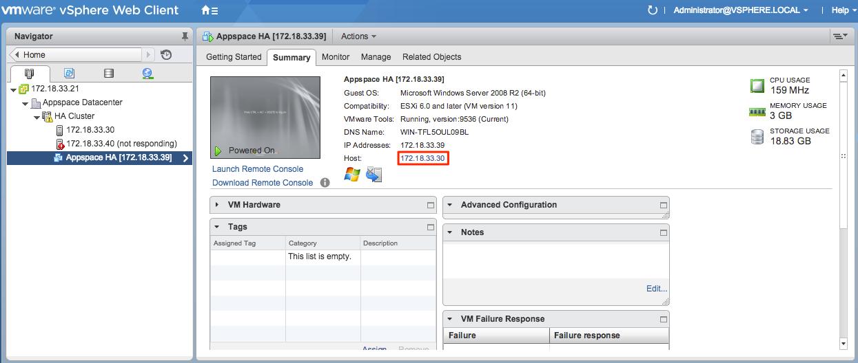 Backup using warm standby — Appspace v6 1 Documentation