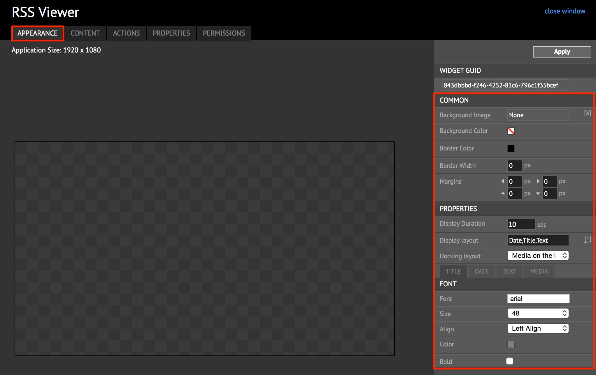 Widget: RSS Viewer — Appspace v6 2 Documentation