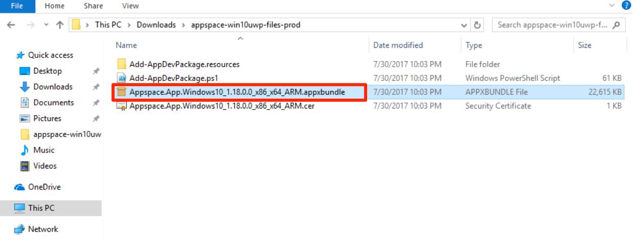 Installing the Appspace App on Universal Windows Platform