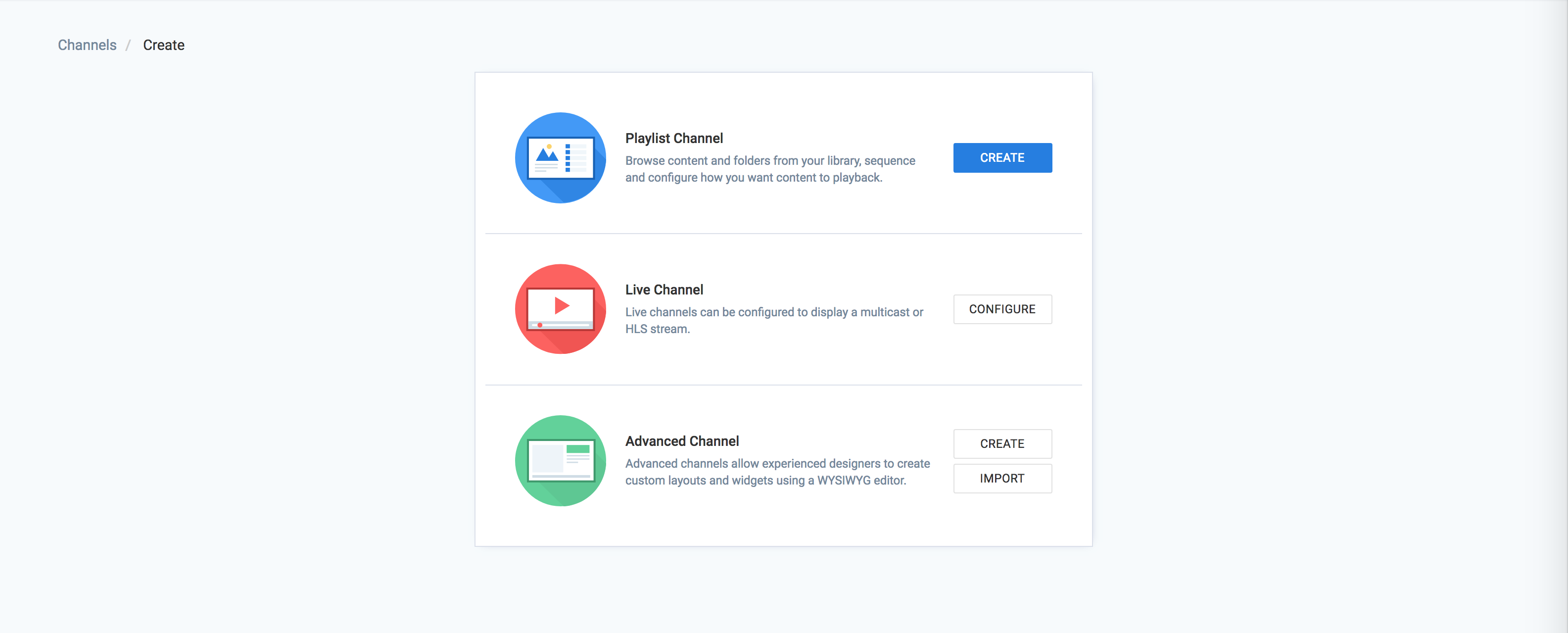 Create a playlist channel — Appspace v7 0 Documentation