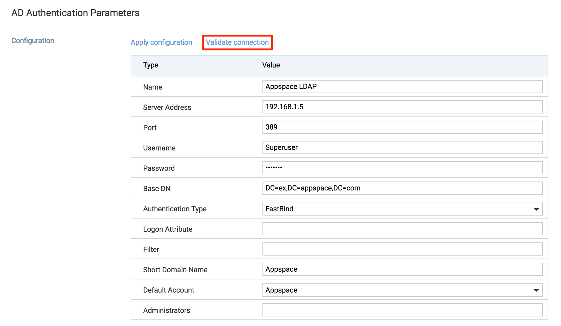 Change or reset password for on-prem users — Appspace v7 0