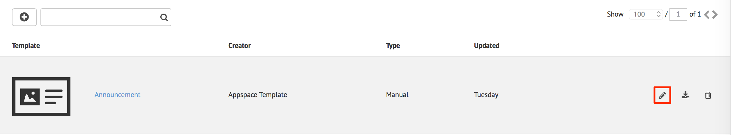 Adding a card template — Appspace v7 0 Documentation