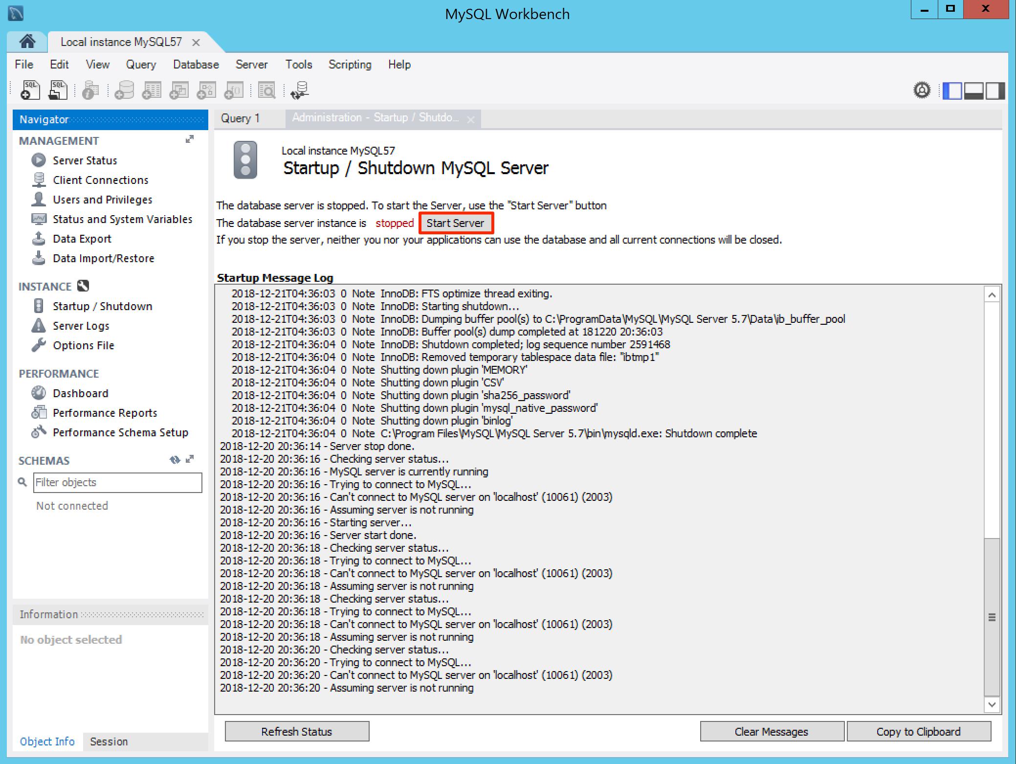 Setup MySQL with MySQL Workbench — Appspace v7 0 Documentation