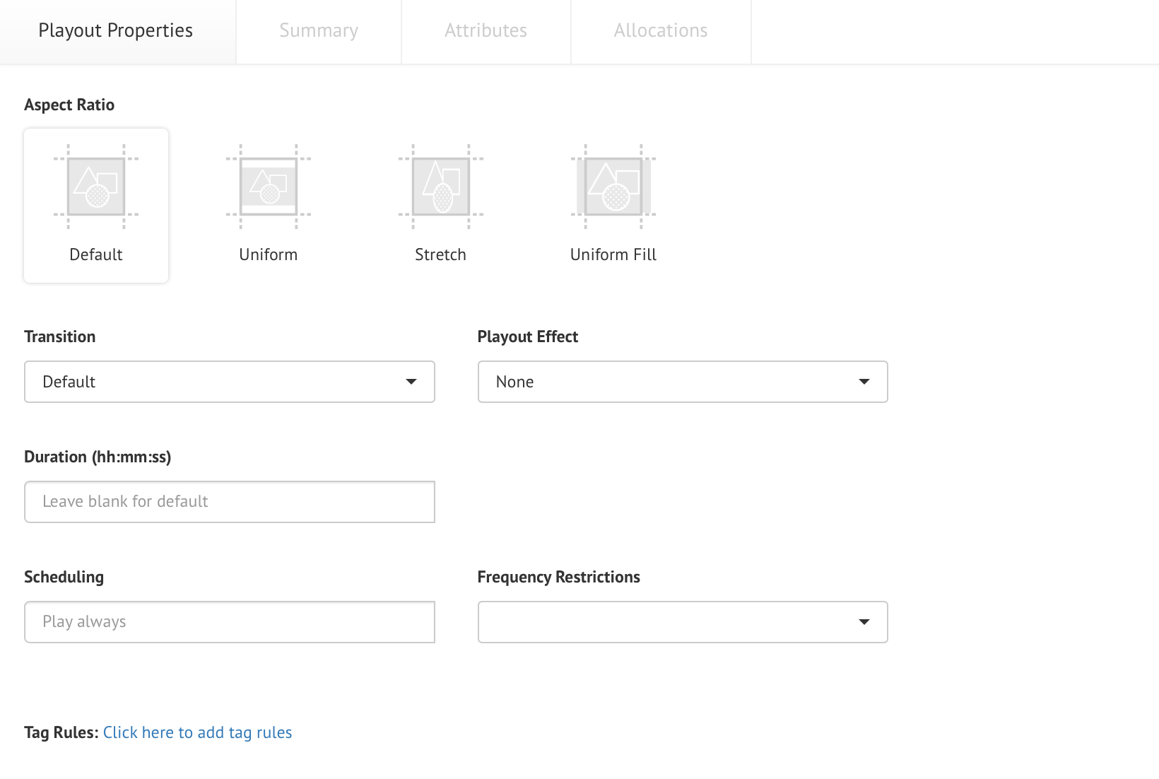 Configuring content properties — Appspace v7 0 Documentation