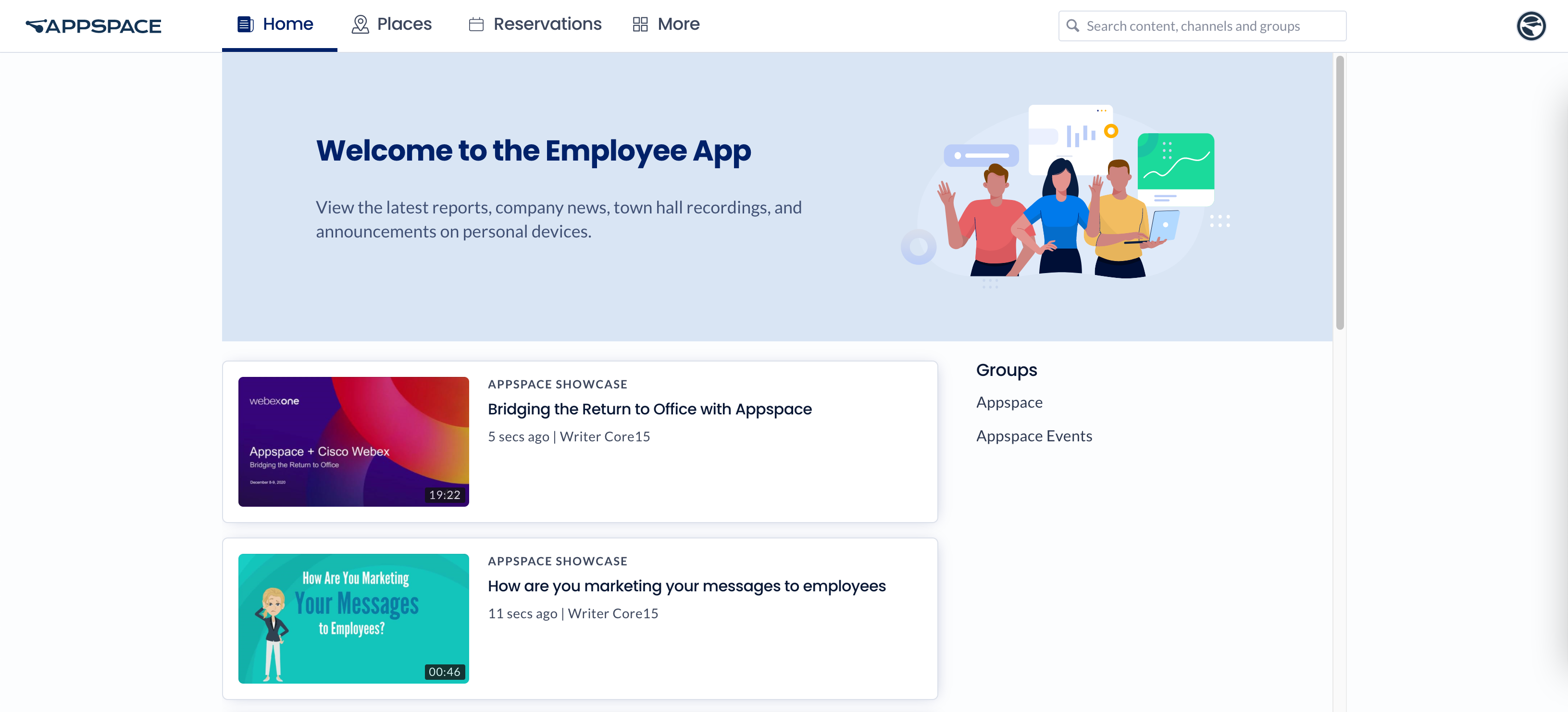 Browse and Navigate Appspace Employee App Portal - Appspace Employee App