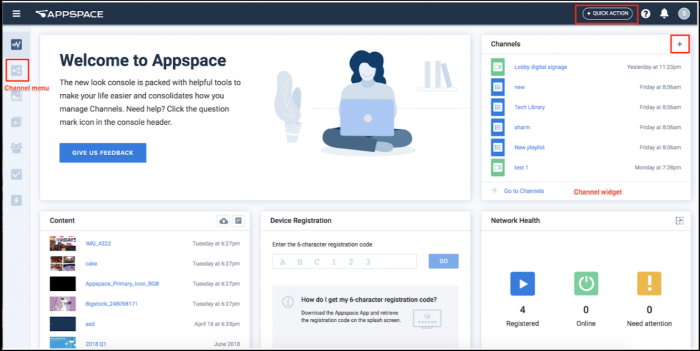 Appspace Dashboard